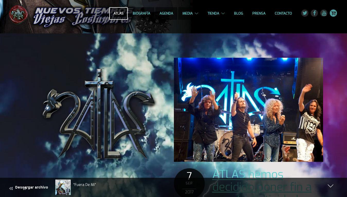Atlas Rock Nacional. Diseño Web bandas de rock