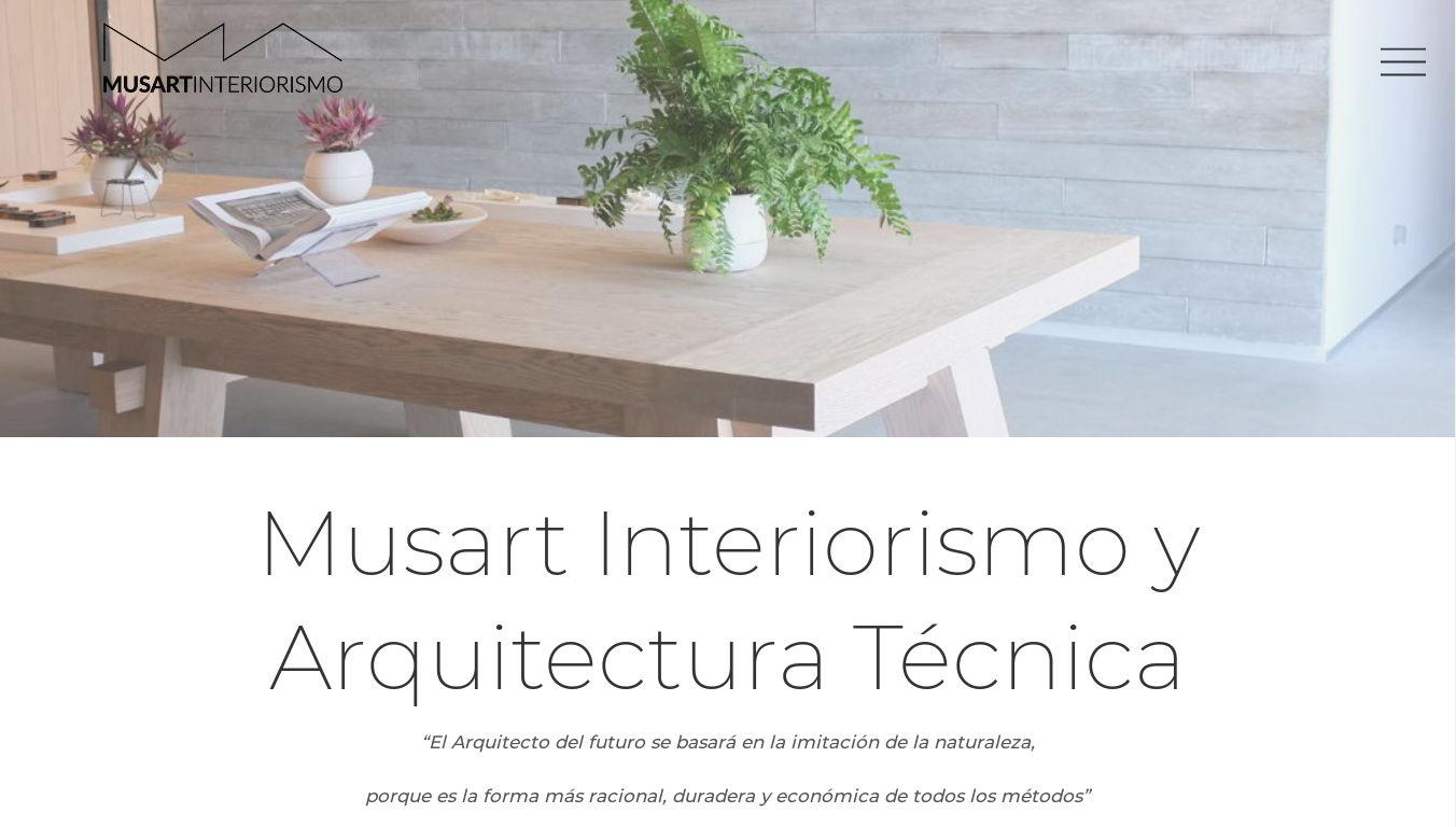 Musart Interiorismo. Diseño web para estudios de arquitectura