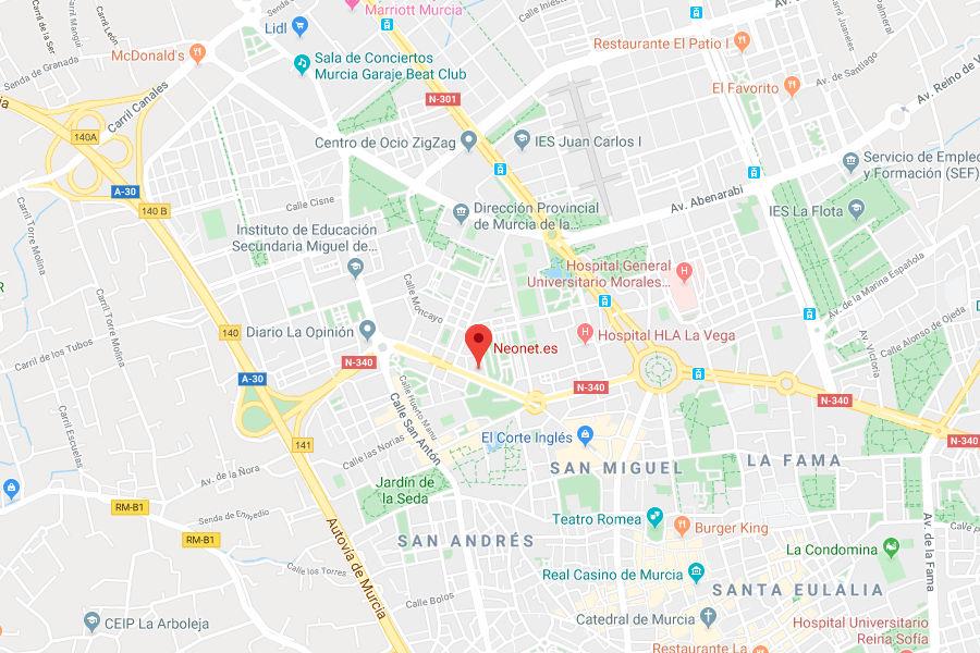 neonet en Murcia contacta con neonet.es
