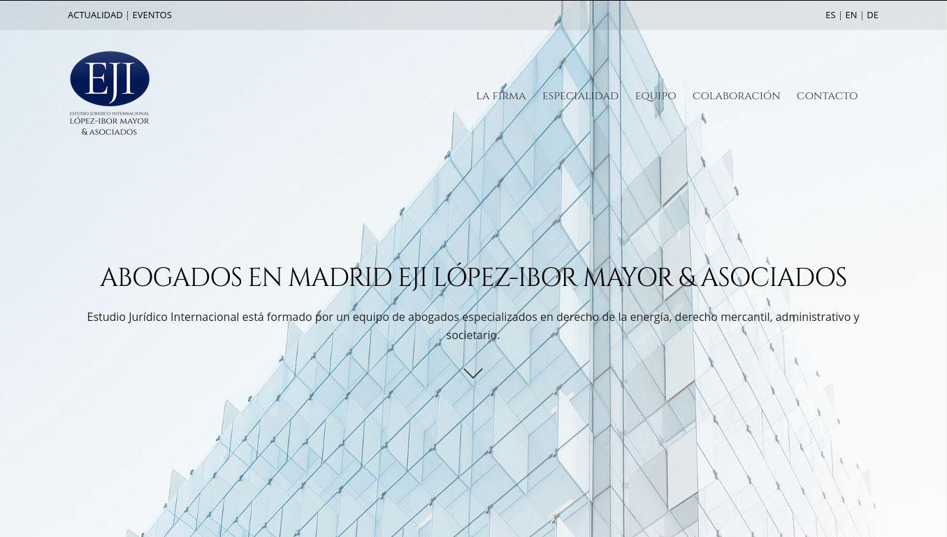 Diseño web en Madrid. AEDEN Asociación de Derecho de la Energía